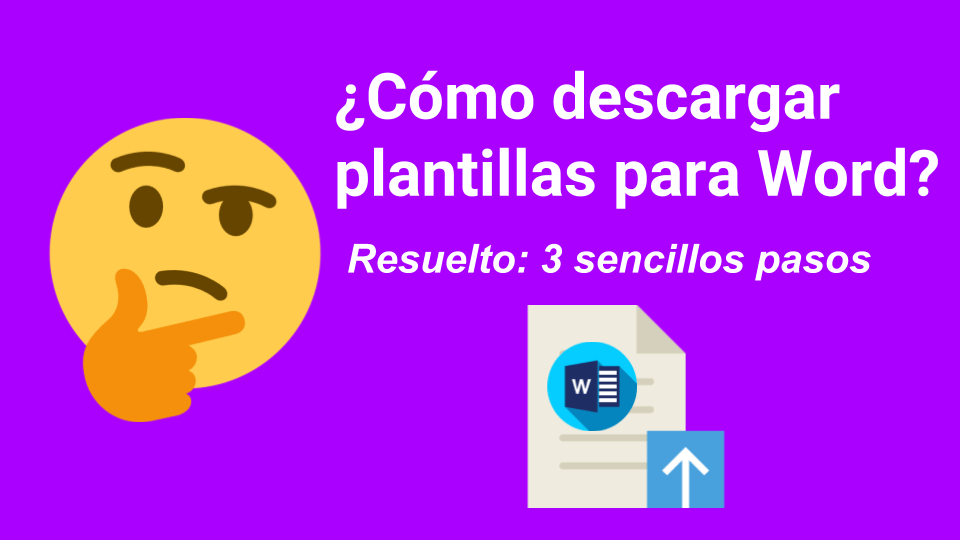 Como descargar plantillas para Word