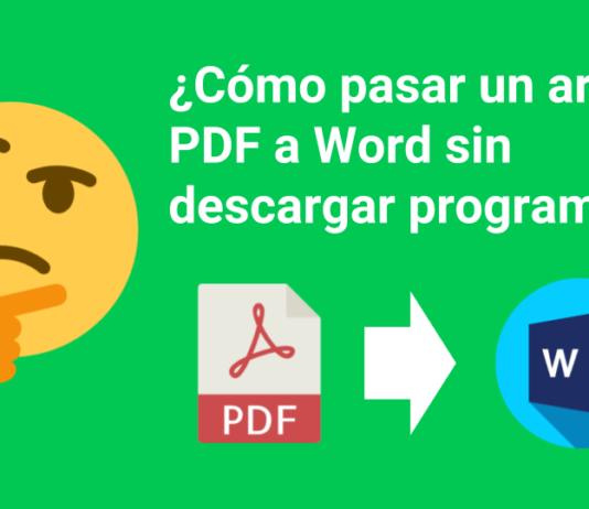 cómo pasar un archivo PDF a Word sin descargar programas
