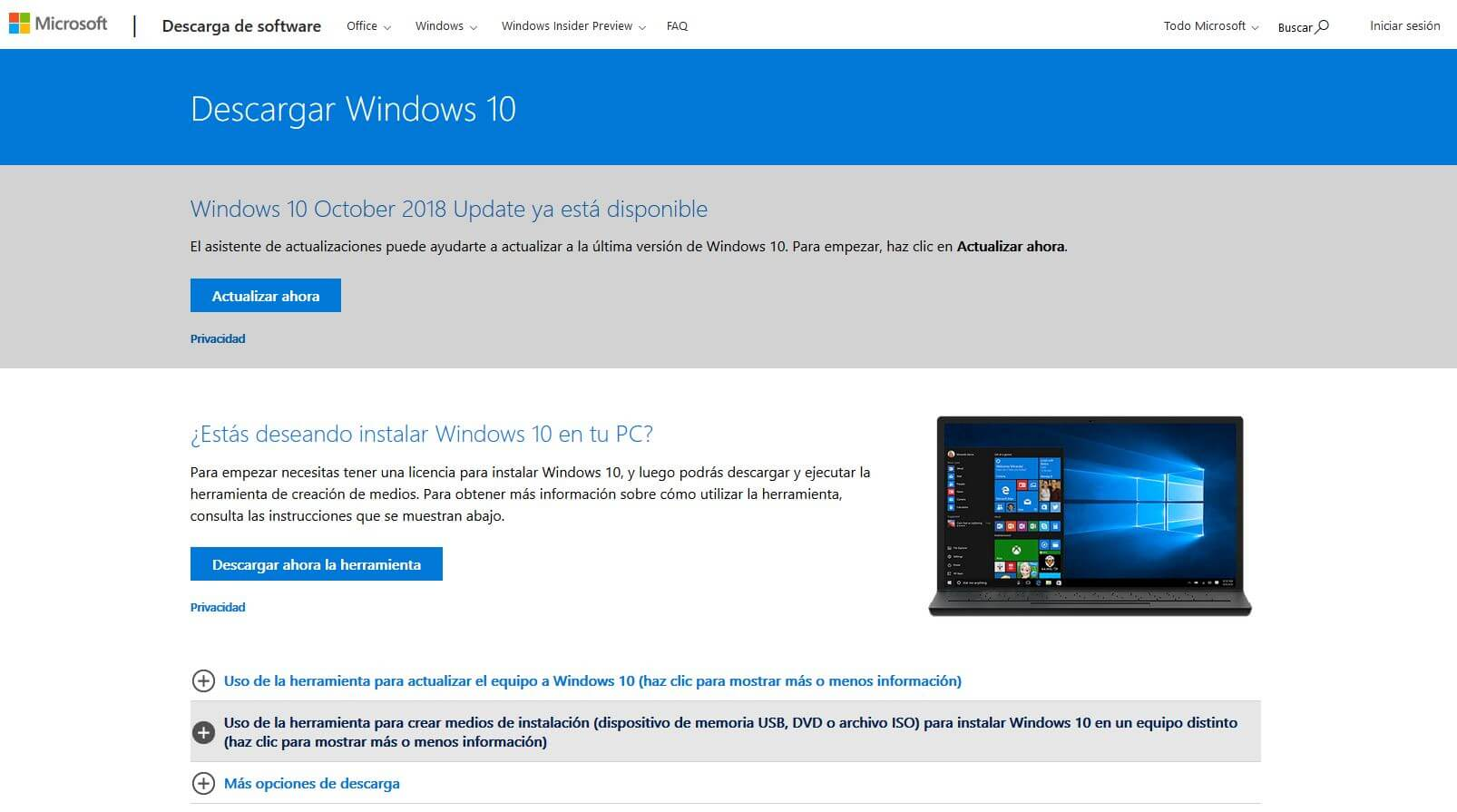 descargar windows 10 oficial