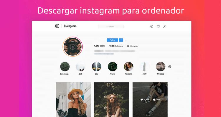 Descargar Instagram para ordenador