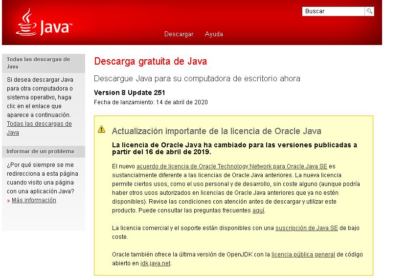 Como descargar Java